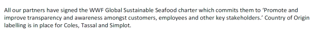 seafood labeling